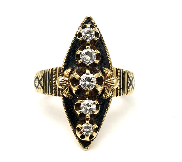 Antique Victorian Diamond Ring 14K