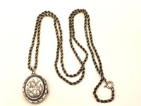 Victorian Sterling Locket Necklace