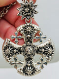 Antique Sterling Peruzzi Maltese Cross Necklace