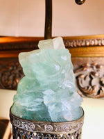Antique Chinese Carved Jade Lamp