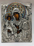 Antique Russian Icon Most Holy Theotokos