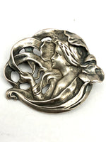Sterling Art Nouveau Brooch