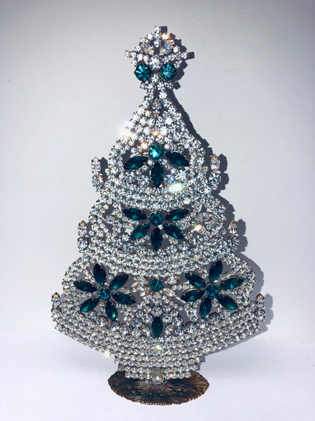 Czech Crystal Christmas Tree # 163
