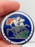 English George III Enamel Coin St. George Dragon