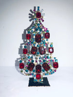 Czech Vintage Crystal Christmas Mantle Tree #181