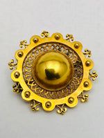 Antique Victorian Dome Brooch