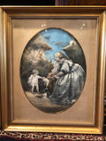 Antique Rare Pair Dimensional Allegories