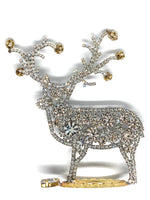 Czech Rhinestone Jingle Bells Reindeer L#134