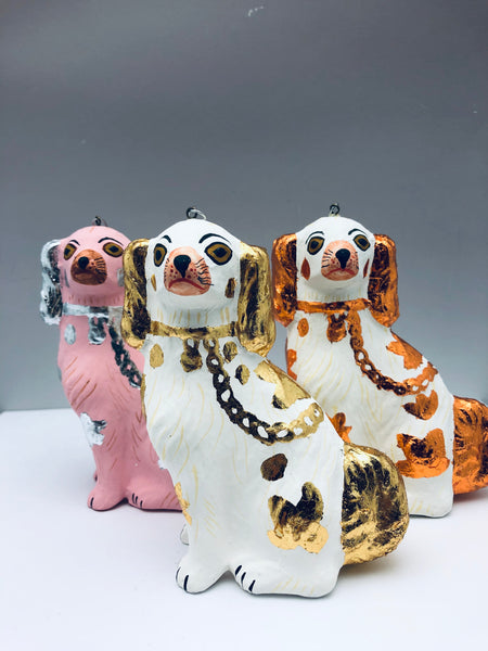 Staffordshire Prized Spaniel Ornament Assorted Colors