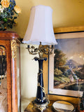 Antique French Porcelain Ormolu Lamp