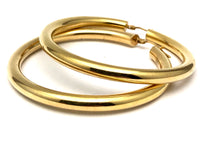 Italian 14K Yellow Gold Hoop Earrings 1 7/8""