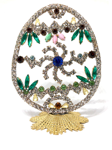 Czech Rhinestone Crystal Easter Egg # 132