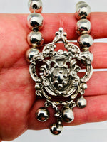 Antique Peruzzi Sterling Crest Necklace Italy