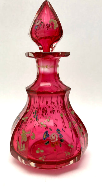 Antique Cranberry Enamel Perfume