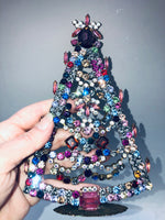 Vintage Czech Crystal Mantle Tree #196