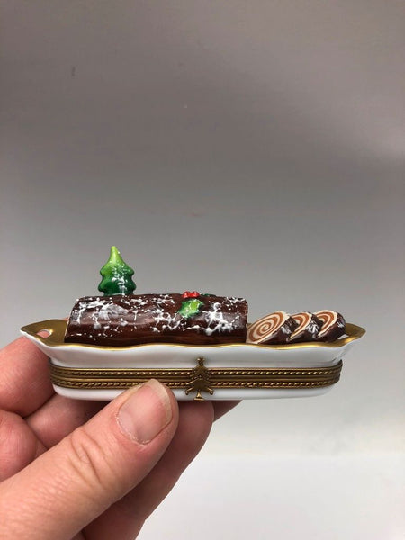 Log Roll Christmas Cake Limoge Box