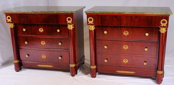 Antique Pair of Mahogany Chests of Drawers