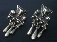 Antique Sterling Silver Screw Back Earrings