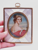 French Mother of Pearl Ivory Portrait