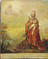 Antique Russian Icon Alexander Nevsky Dated 1863