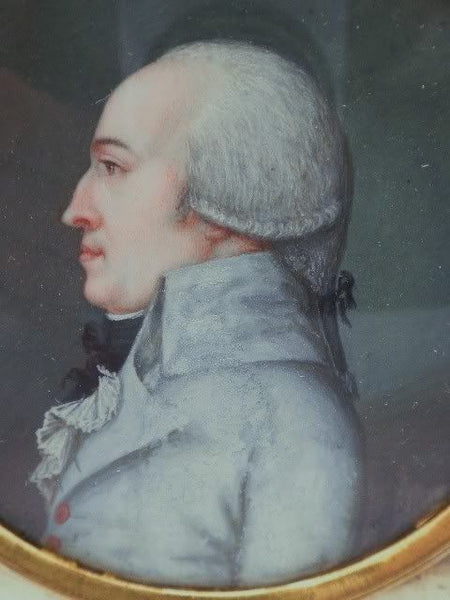 Georgian Gentleman's Miniature Portrait Early
