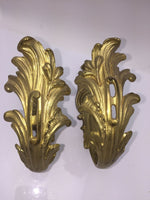 Antique Pair French Ormolu Bronze Chateau Curtain Tie Backs Hooks