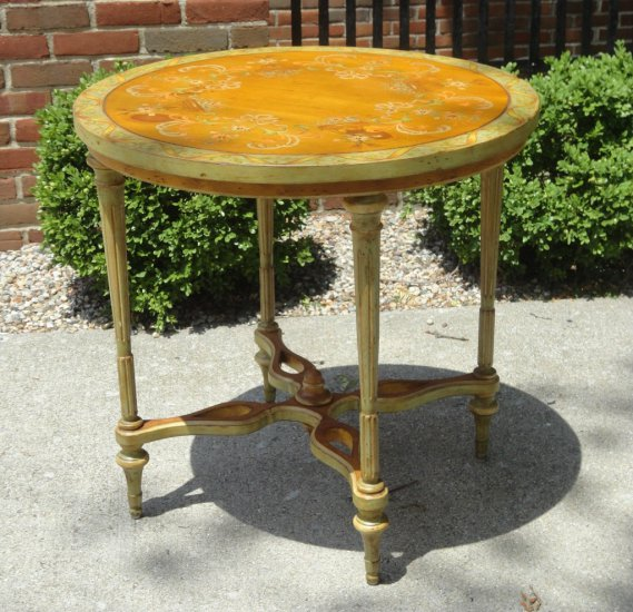 Handpainted Pine Table