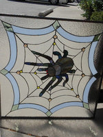 Stained Glass Spider Web Design Panel