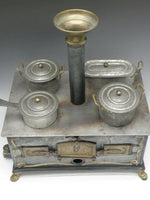 Antique German Toy Tin & Brass Stove