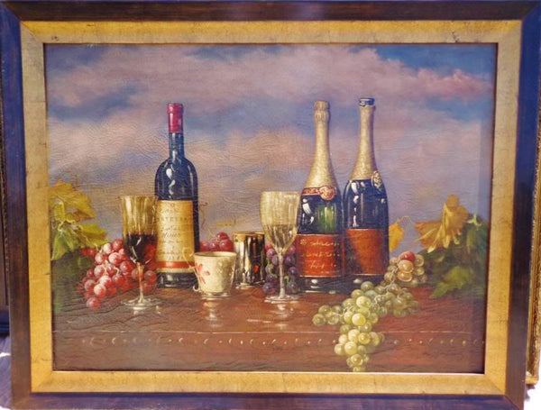 Wine Still Life Oil Painting