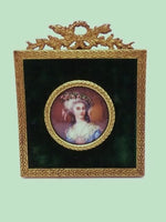 Antique Ivory Portrait Miniature Marie Antoinette