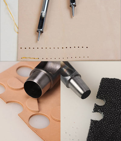Hole Punch Alloy Tool - Steel Round Hollow Punch Leather Craft Tools