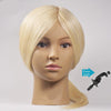 "16"" Mannequin Head 100% Real Human Hair Blonde Color - Hairdressing Training Practice Head Free Gift"