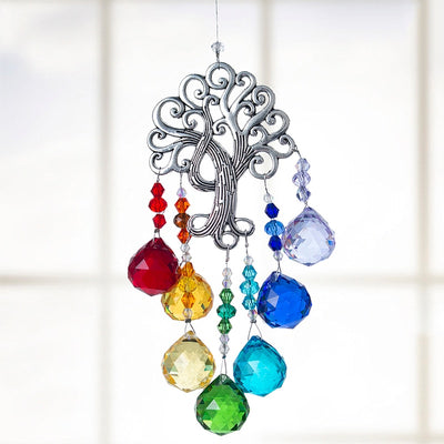 Crystal Suncatcher Colors Balls Prism Tree of Life Window Hanging Pendant