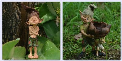 Resin Elves Fairy Figure Garden Ornament For Home Decoration