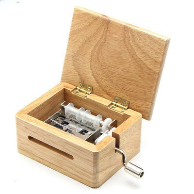 15 Tone DIY Hand-cranked Wooden Music Box With Hole Puncher And 10 pcs Paper Tapes Music Movements Box