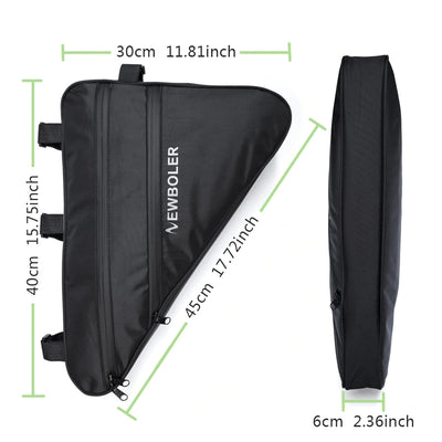 Large Triangle Bike Frame Bag Waterproof Front Tube Bicycle Bag