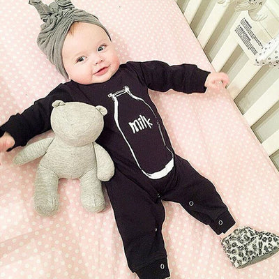 New Long Sleeve Cotton Baby Boy & Girl Sleepsuit