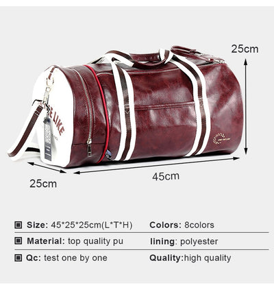 PU Sports Gym Bag Multifunction Fitness Shoulder Bag With Shoes Pocket