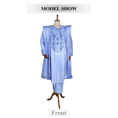 Formal African Traditional Wear Dashiki Outfits Shirt Pants Robe Suit