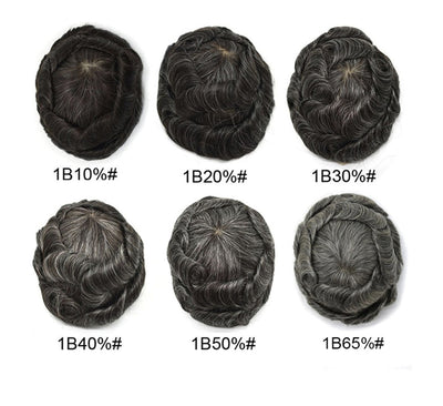 Super Thin Skin Toupee For Men Strong Knot Hair Replacement Undetectable Front Hair Line