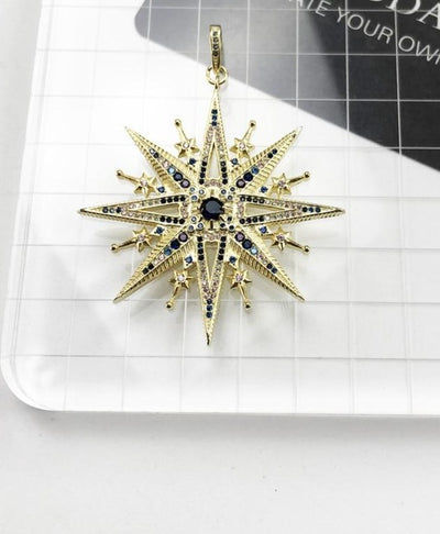 Lucky Royalty Star Pendant 925 Sterling Silver Precious Jewelry
