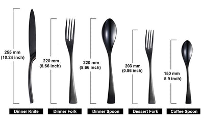 Elegant Stainless Steel Cutlery Flatware Sets - 24/20 Pcs/Set