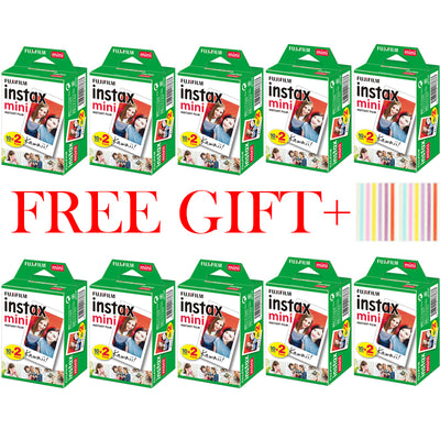 10-200 Sheets Fuji Fujifilm Instax Mini 9 Films White Edge 3 Inch Wide Film for Instant Camera Mini 8 9 7s 25 50s 90 Photo Paper