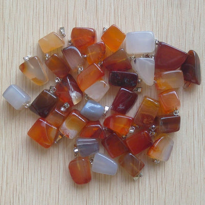 50pcs/lot Assorted Natural Stone Mixed Irregular Shape Pendants Charms Jewelry