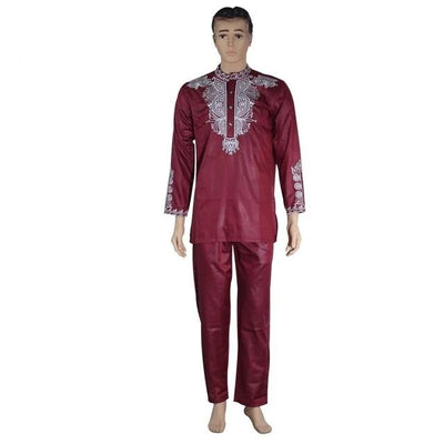 African Clothing Dashiki Men Top Shirt & Pants