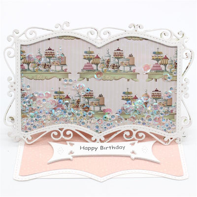 Elegant Book Frame Metal Cutting Dies Stencils for DIY Scrapbooking/photo album Decorative Embossing DIY Paper Card