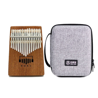 DUAL Kalimba Thumb Piano 17 Keys Acoustic Body Sapele Wood