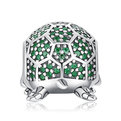 Turtle 925 Sterling Silver Beads Charms  For Bracelet & Jewelry Making