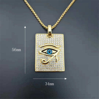 Ancient Egypt The Eye Of Horus Pendant Necklaces Stainless Steel Jewelry